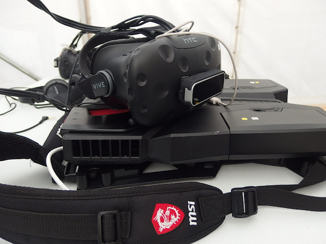 The VR equipment in close up