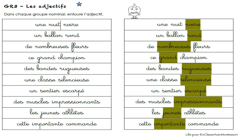 En classe avec Montessori: Cycle 3 / grammaire l ...