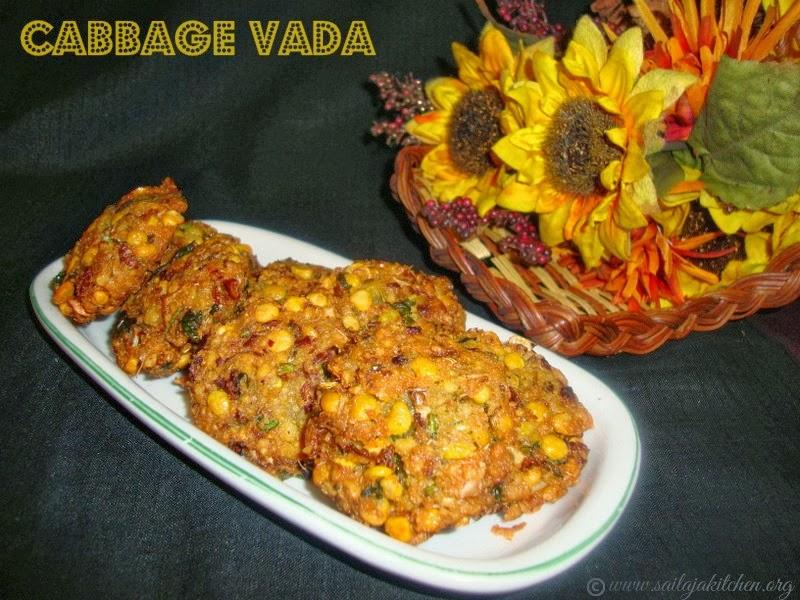 Cabbage Vada / Cabbage Masala Vadai recipe / Muttaikose Vadai Recipe / Kose Paruppu Vada Recipe