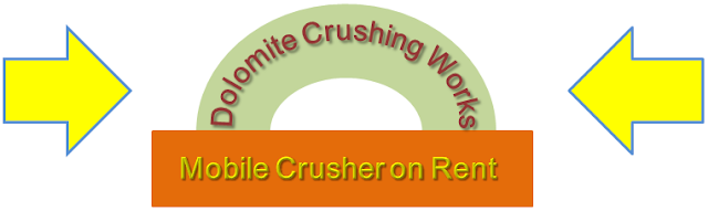 Dolomite Crushing units, Mobile Crusher on Rent, Dolomite Crushing job work