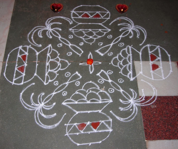 free hand rangoli design patterns for pongal