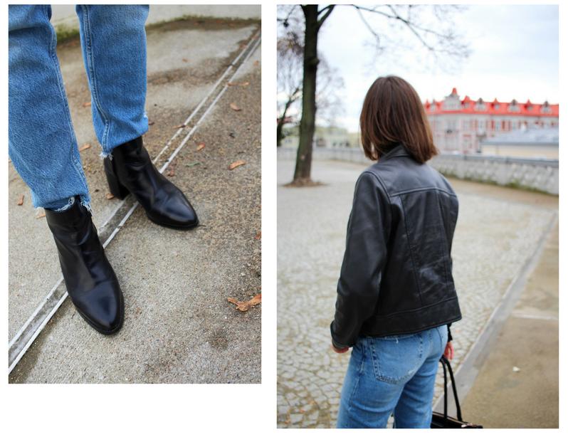 czarne botki Zign kurtka Zara street style