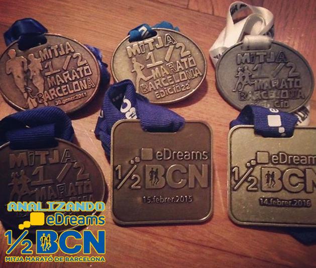 Analizando eDreams Mitja Marató Barcelona 2017 - Medallas