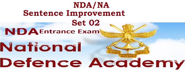 NDA/NA Sentence Improvemetn Practice Set 02