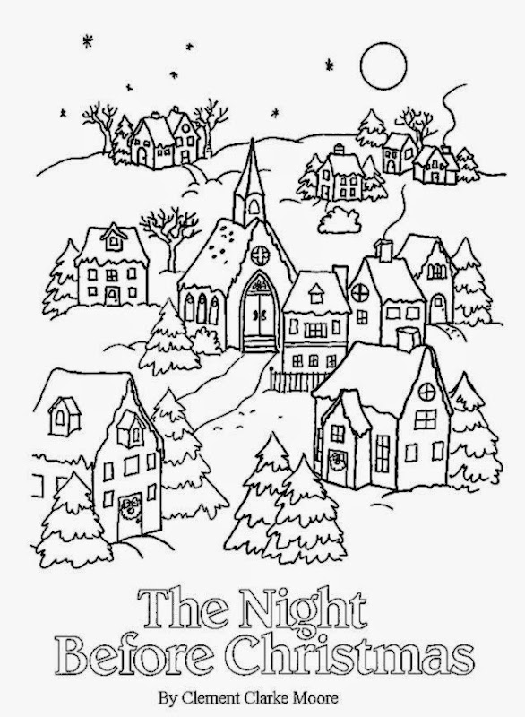 Twas The Night Before Christmas Coloring Pages | Search ...