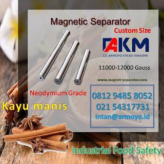 magnet separator kayu manis