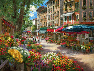 Stitching madness: Paris Market, Dimensions, completed