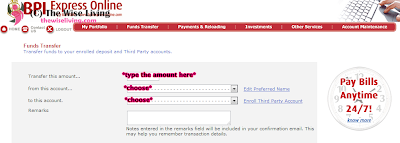 How to Transfer Money from BPI Direct Save-Up to BPI Express Teller