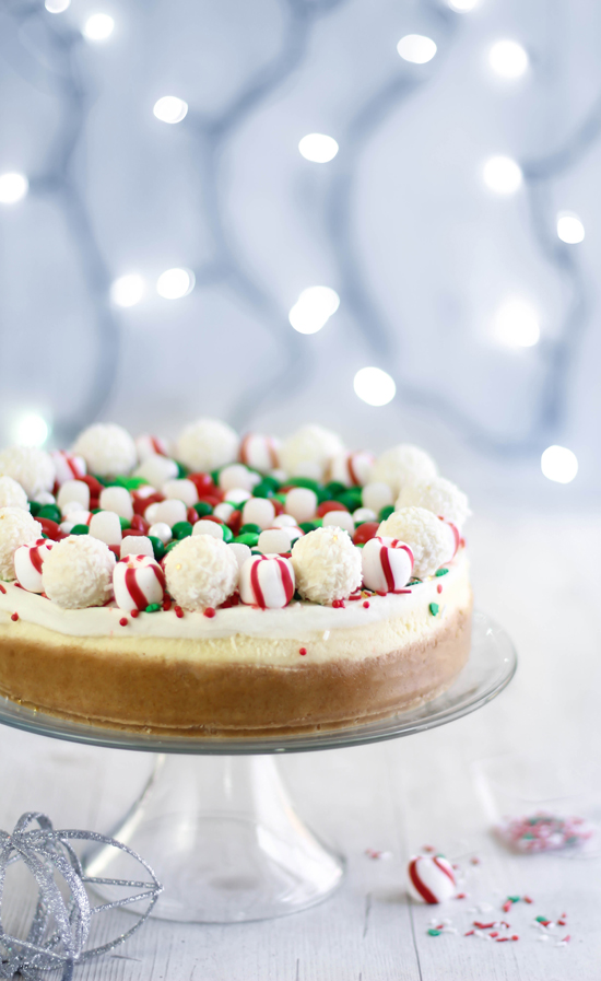 Christmas Candy Cheesecake Sprinkle Bakes