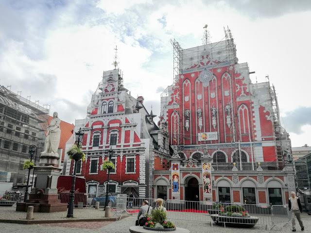 Dom Bractwa Czarnogłowych; Riga; Łotwa; Rga; Latvia;