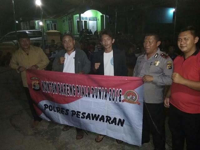GPN Nobar Final Piala dunia bersama Kaban Kesbangpol Pesawaran
