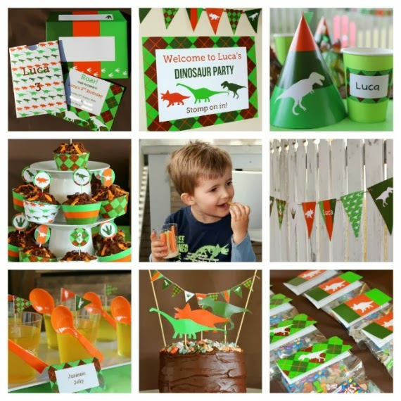 Printable Dinosaur Party Decorations and Deluxe Printable Invitation by Love That Party. www.lovethatparty.com.au