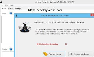 Trik menggunakan article rewriter wizard