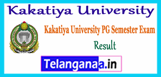Kakatiya University PG All Courses 3rd Semester Exam Results 2018