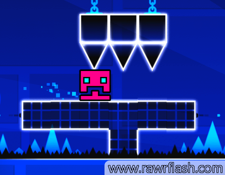 Jogos online: Geometry Dash, dificuldade extrema. Cellbit style.