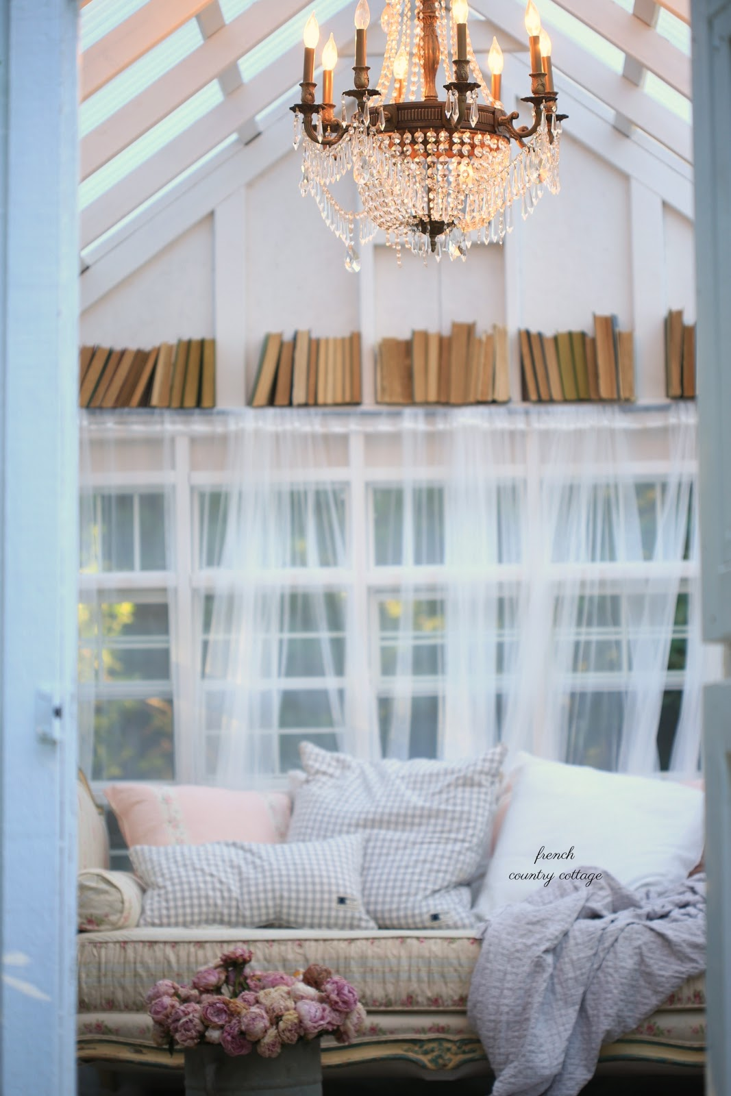 An inspired outdoor hideaway french country cottage she shed french country cottage - French country ...
