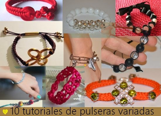 10 tutoriales de pulseras fashion
