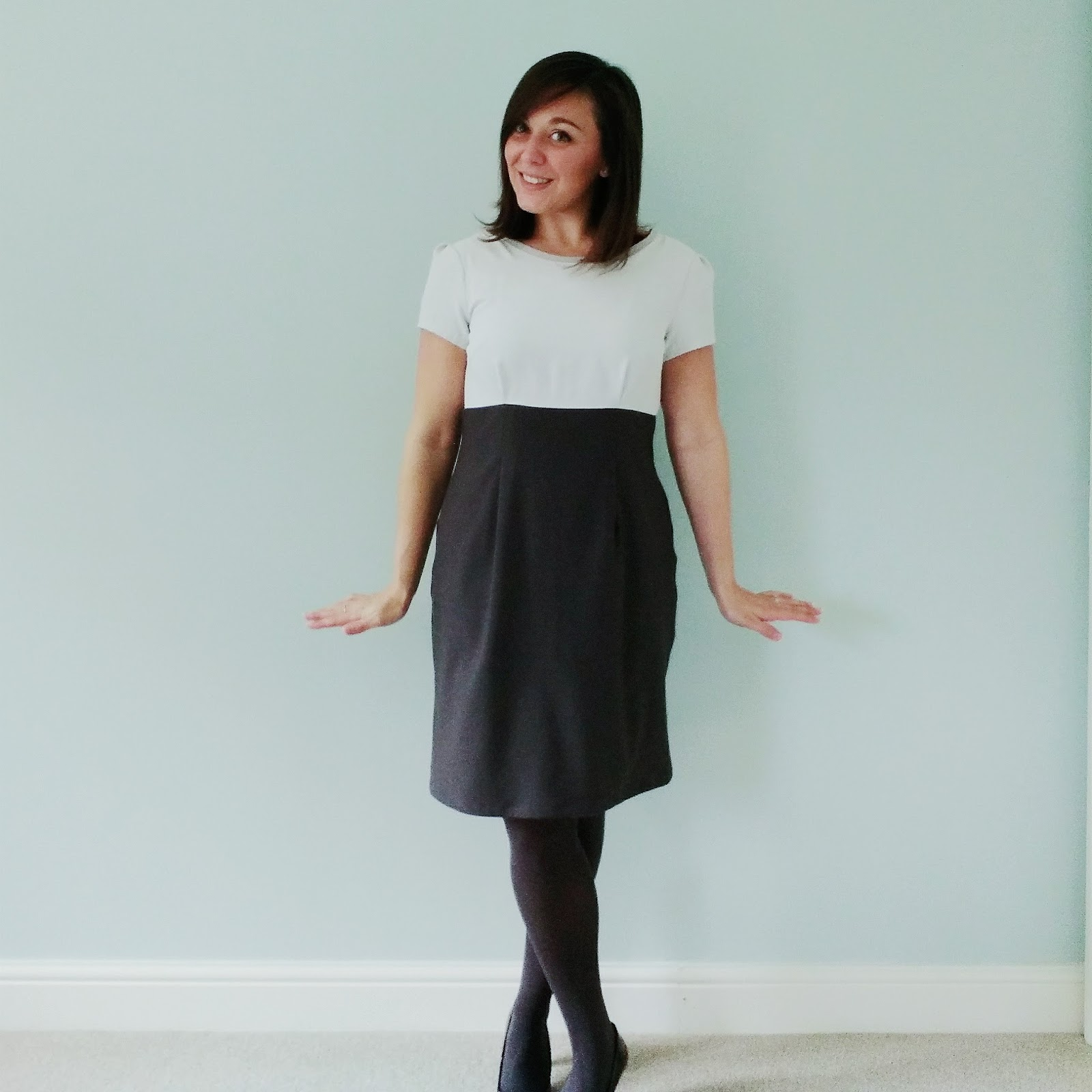 Megan Dress from Tilly and the Buttons Love at First Stitch with sleeve alteration