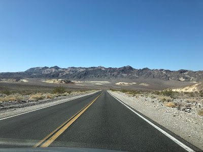 Death Valley Route 190 heading toward Zabriskie Point
