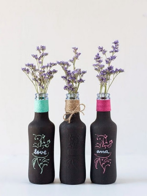 Decorate With Glass Bottles And Flowers 5