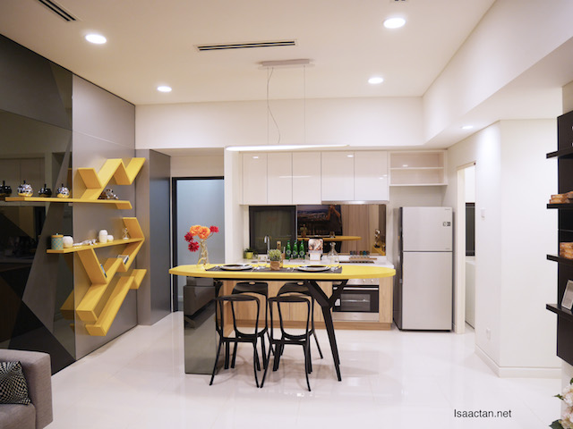 Kitchen space of the 695sqft showhouse