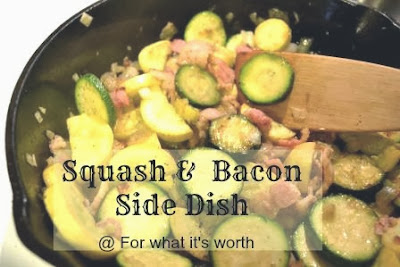 squash bacon onion vegetable side dish