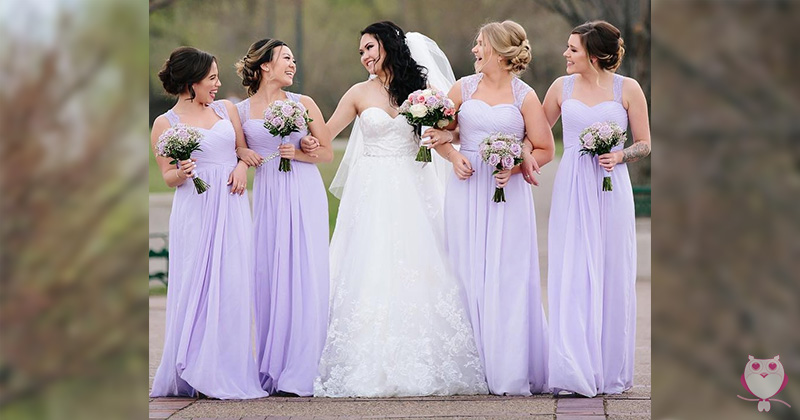 Off-White and Nude Bridesmaid Dresses