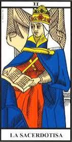 La Sacerdotisa- Arcano II- Tarot de Marsella