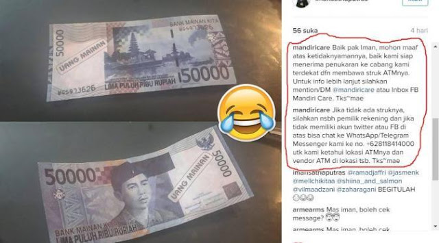 Ambil Uang Di ATM Ternama, Tapi Apa Yang Keluar?