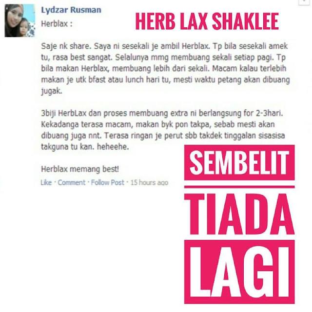 Testimoni herb-lax shaklee