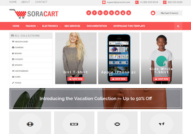 Top 5 Shopping / Ecommerce Blogger Templates