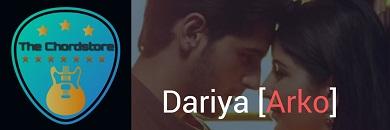 DARIYA Guitar Chords ACCURATE | Arko (Baar Baar Dekho)