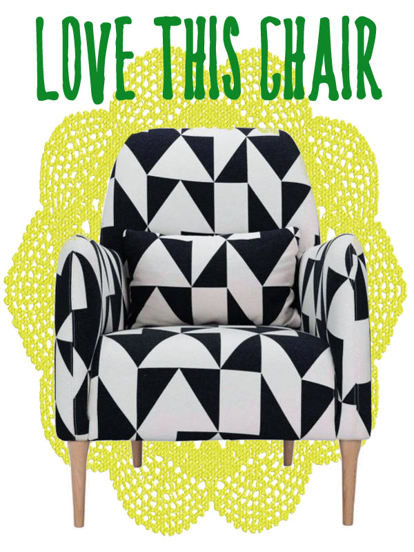 habitat black and white chair