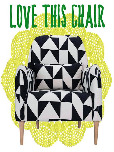 habitat black and white chair