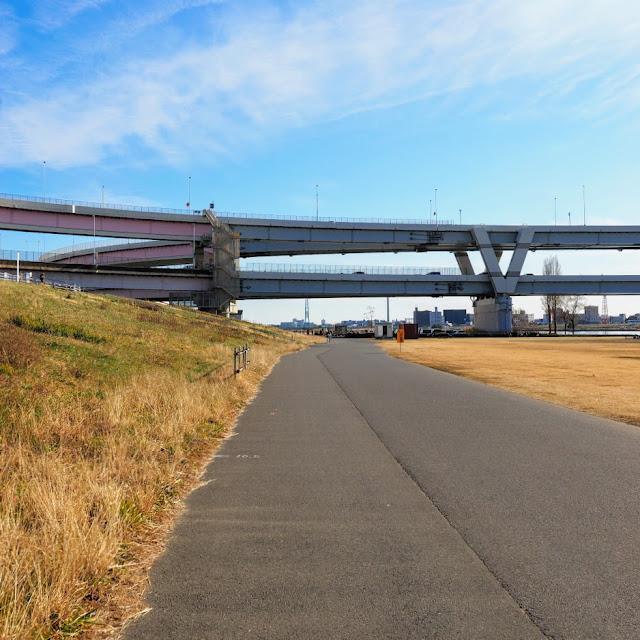 荒川自転車道 堀切ジャンクション