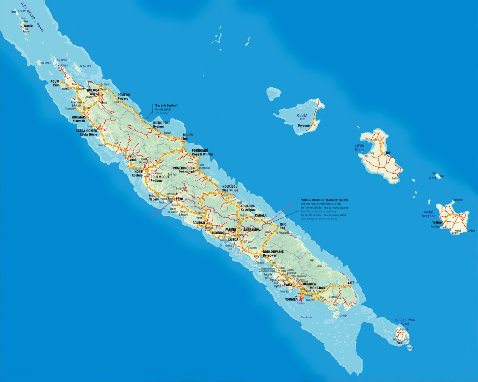 Mapas da Nova Caledônia | França