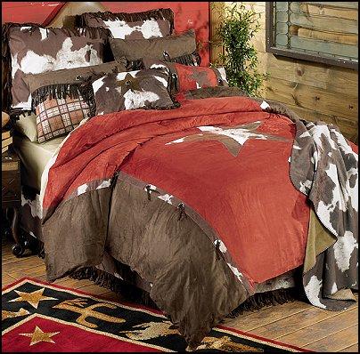 cowboy  bedrooms Cow print bedding rustic western style decorating ideas - rustic decor - cowboy decor - Cowboy Bedding Western bedroom decor - horse decor - cowboy wall murals horse wall murals