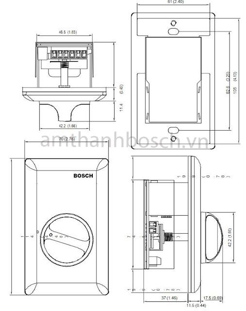 Bộ điều khiển âm lượng Bosch LBC 1402/10