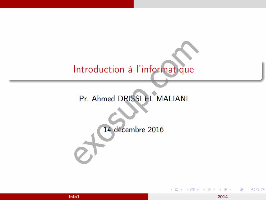 cours informatique 1introduction linformatique smia s1 fsdm 1617 - Resume Cours Science Bac Tunisie