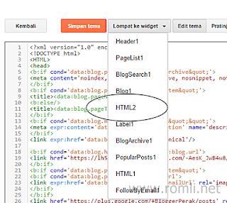 Cara mudah menampilkan widget di halaman tertentu