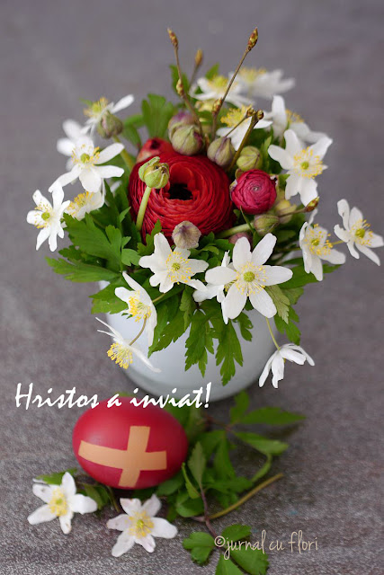 #hristosainviat#aranjamentdepaste#felicitarepaste #mesaj