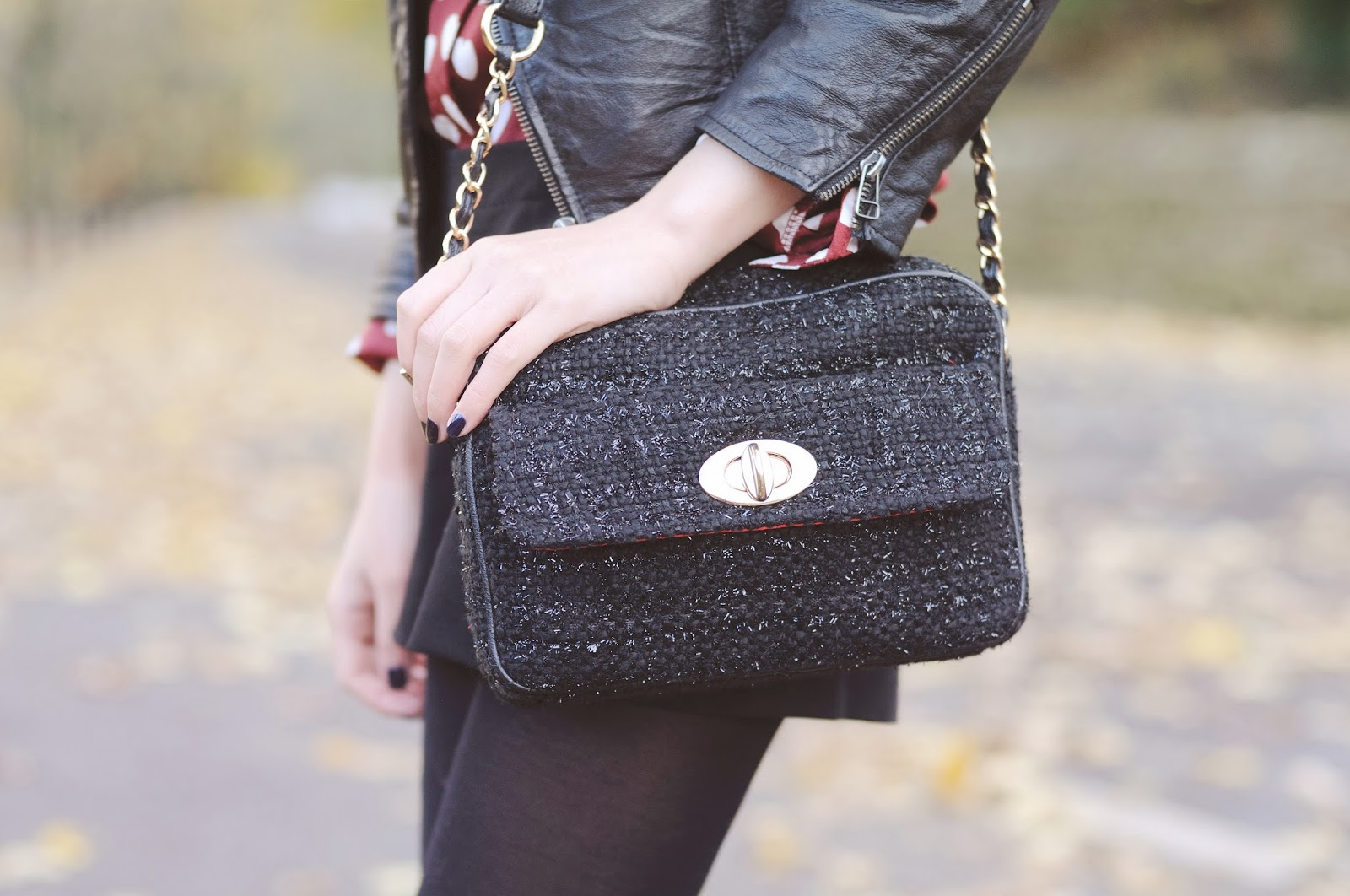 Tweed bag, affordable stylish bag, F&F, clothing at tesco