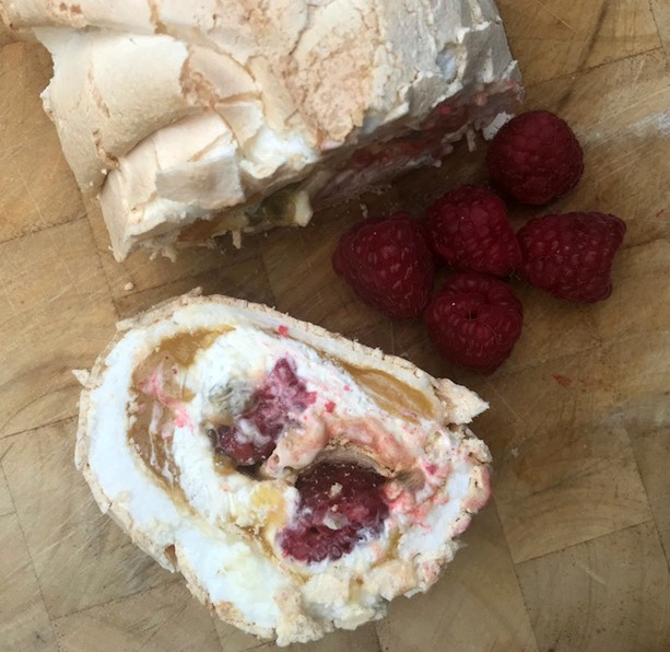 Lemon Curd, Passion Fruit And Raspberry Roulade