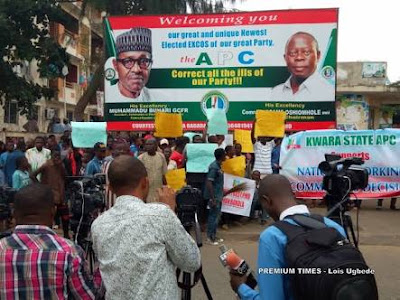 Protesters Storm APC Headquarters, Tell Party To Expell Saraki