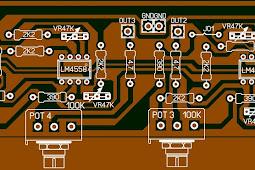 Layout PCB Audio Distributor 5 way Untuk Sound System audio