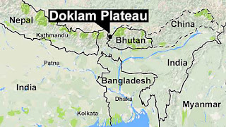 China-India boundary doklam plateau