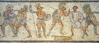 Mosaico con gladiadores