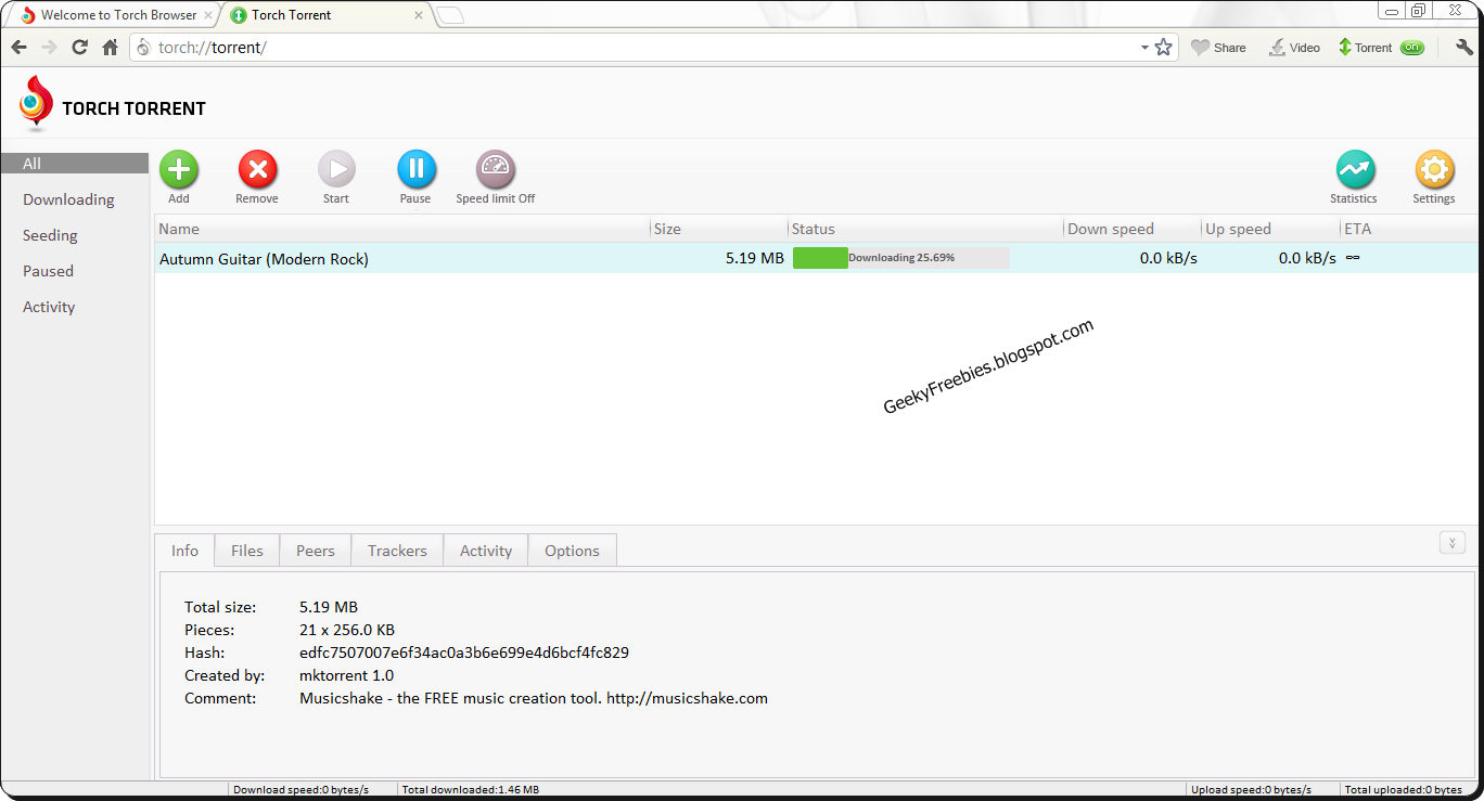 Torch: Chromium-based Browser With Torrent Downloader! ~ GeekyFreebies