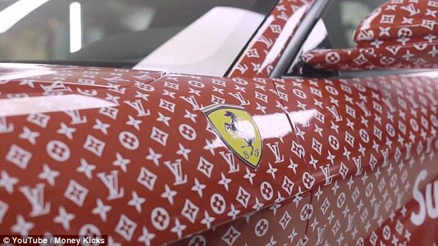 Anak Billionaire Dapat Kereta Ferrari RM1.1 Juta Berbalut Louis Vuitton Biarpun Terlalu Muda Untuk Memandu