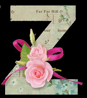 Abecedario con Rosas en Fondo Musical. Alphabet with Roses in Musical Background.
